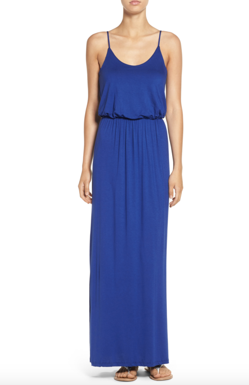 All In Favour Knit Maxi Dress in Navy