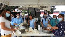 颱風梵高重創馬利吉娜 工作人員準備食物 (圖)