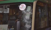 大埔十一輛專線小巴遭刑毀擋風玻璃