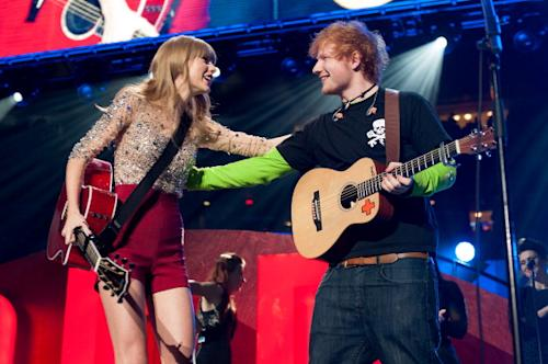 Ed Sheeran Falls for Taylor Swift–Literally!–On Opening Night of Tour