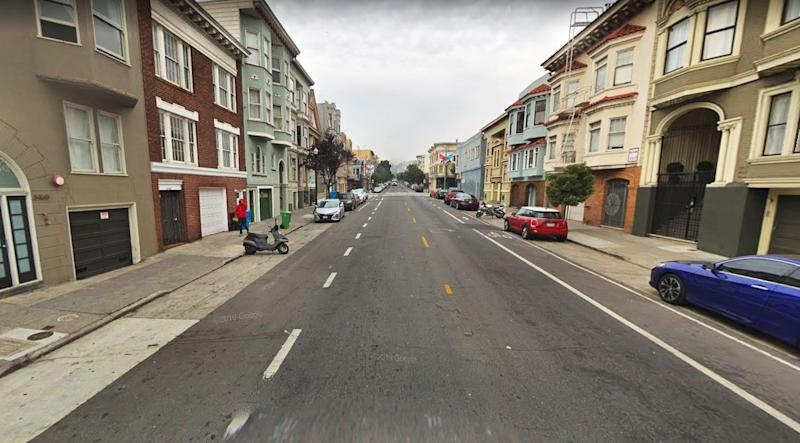 The incident allegedly occurred on 17th Street in San Francisco. Source: Google Maps