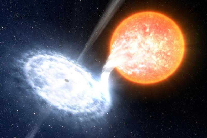 Astronomers capture black hole