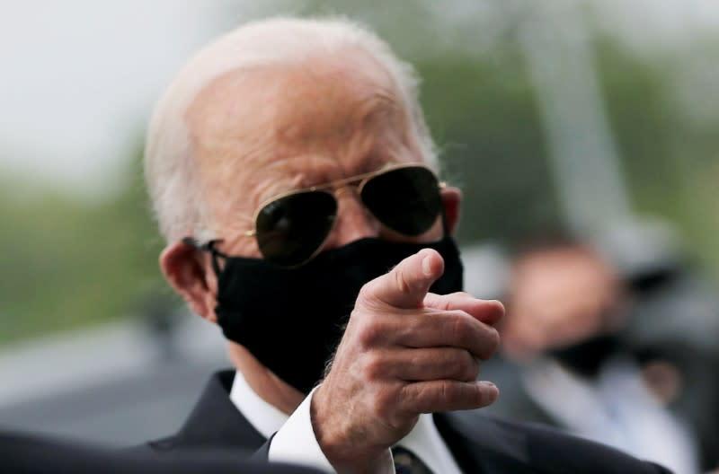 FILE PHOTO: Joe Biden visits New Castle, Delaware, during Memorial Day