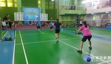 竹縣理事長盃羽球賽開打 上百位選手揮拍較勁