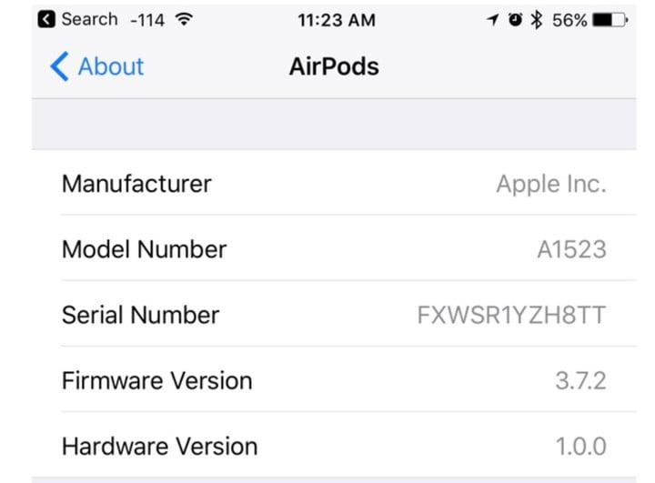 AirPods firmware updating