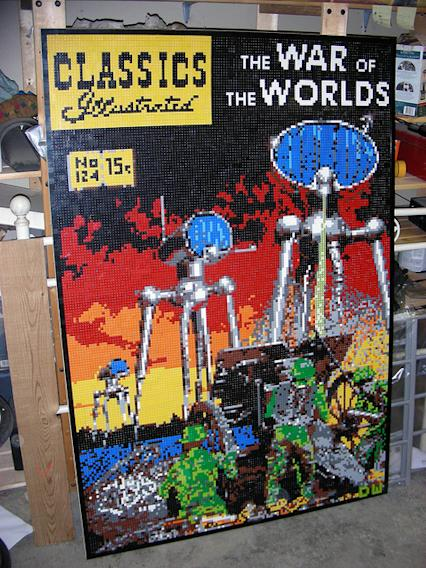 War of the Worlds Lego Mosaic by Dave Ware