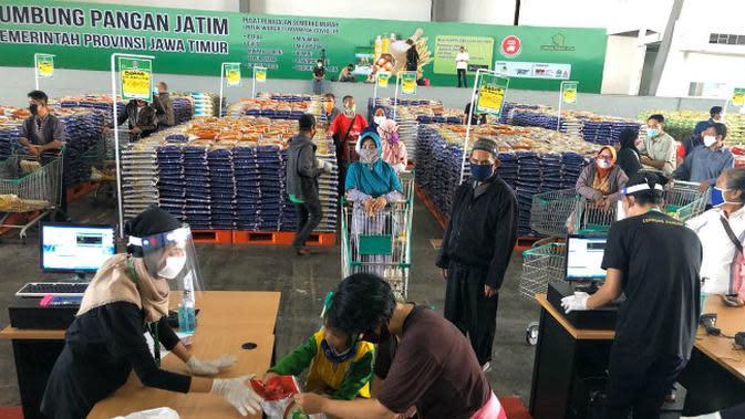 Lumbung pangan jatim (Foto: Liputan6.com/Dian Kurniawan)