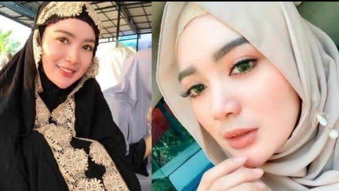 3 Gaya Hijab Wika Salim, Imut dan Cantik!