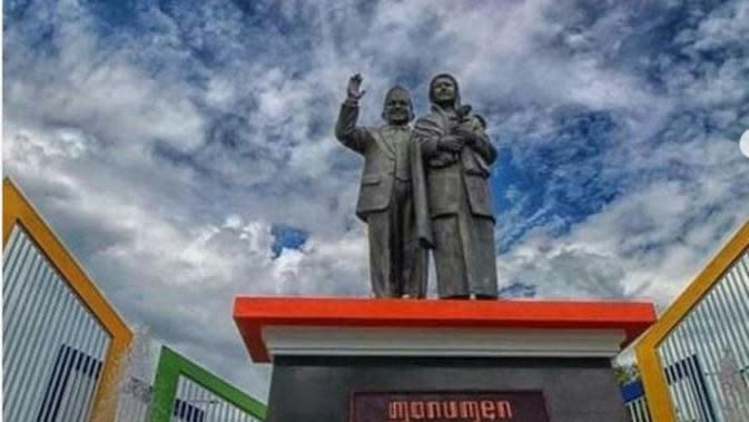 Monumen Cinta Sejati Habibie & Ainun di Parepare, Sulawei Selatan. foto: Mutmain Ishak (dok.Instagram @mutamain.ishak/https://www.instagram.com/p/B2SwrW0BS6g/Henry)