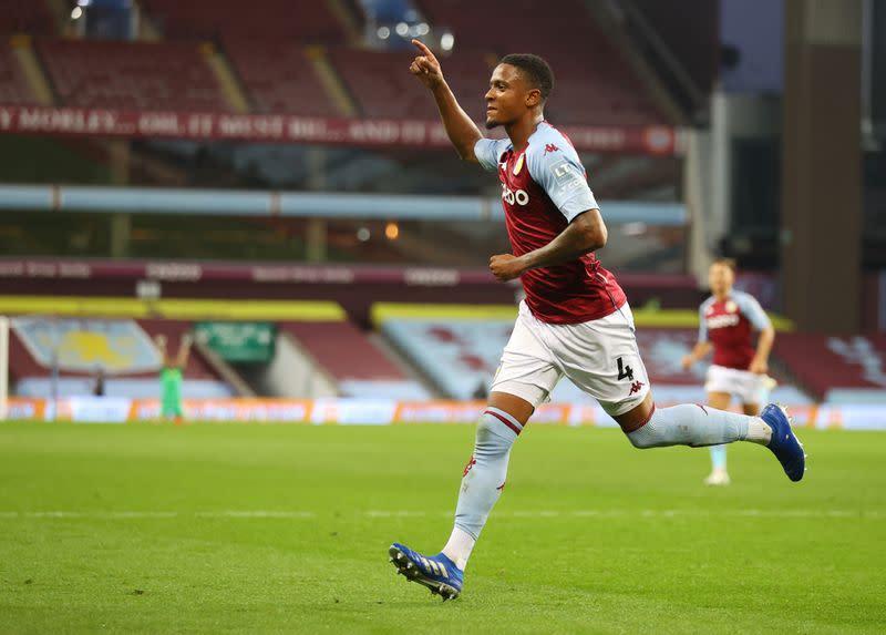Konsa seals Villa win over 10-man Sheffield United