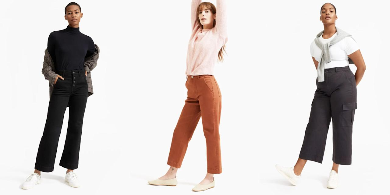 "<p>If you've never shopped at Everlane, the <a href=""https://go.redirectingat.com?id=74968X1596630&url=https%3A%2F%2Fwww.everlane.com%2Fcollections%2Fwomens-sale&sref=https%3A%2F%2Fwww.elle.com%2Ffashion%2Fshopping%2Fg32465421%2Feverlane-choose-what-you-pay-sale-may-2020%2F"" target=""_blank"">""Choose What You Pay"" program</a> is exactly what it sounds like. Instead of having a traditional sale section, the direct-to-consumer company offers three prices and shares what each rate covers. The lowest price usually covers production costs, while proceeds from the highest rate will go towards research and development. <a href=""https://go.redirectingat.com?id=74968X1596630&url=https%3A%2F%2Fwww.everlane.com%2F&sref=https%3A%2F%2Fwww.elle.com%2Ffashion%2Fshopping%2Fg32465421%2Feverlane-choose-what-you-pay-sale-may-2020%2F"" target=""_blank"">Everlane</a> just restocked the section, meaning you can take up to 50 percent off clothing and accessories at your discretion.<br></p><p>I know what you're thinking: Wearing—let alone buying—clothing right now seems daunting. (I should know, I'm currently rocking a college sweatsuit like it's 2010.) However, Everlane's sale is packed with cozy sweaters, loungewear, and Zoom-friendly blouses, so it's a great opportunity to revamp your WFH wardrobe. And if I'm being honest, we could all use some retail therapy right now.</p><p>Peruse through these 10 standout styles from the newly-stocked section, below. </p>"