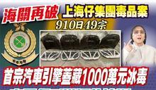 海關再破上海仔毒品案 首次在汽車引擎蓋發現千萬冰毒