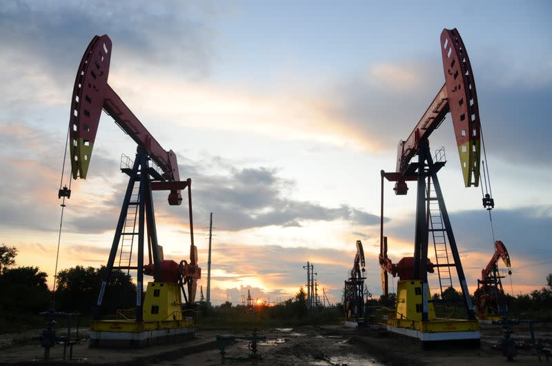 Oil hits three-month high on falling oil stocks, investor optimism