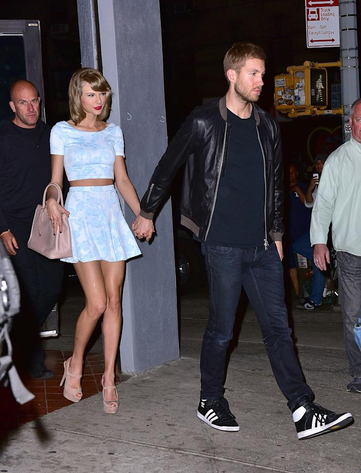"""Target: Calvin Harris  Lyrics:<em>And I got a boyfriend, he's older than us/He's in the club doing I don't know what</em>  Though several fans have claimed that Swift told them that<strong> Tom Hiddleston</strong> was her last boyfriend before her current one, <strong>Joe Alwyn</strong>, there is a lot of evidence leading listeners to believe that this lyric references the time between Swift's relationships with Harris and Alwyn. Many believe that the """"club"""" lyric references Harris's career as a DJ, who frequents nightclubs for performances. Likewise, Harris is five years older than Swift, while Alwyn is two years younger. Many also believe that Alwyn and Swift met at the 2016 Met Gala, which they both attended. The event was held before the media announced Swift and Harris's breakup, leading fans to believe that """"Gorgeous"""" is about Alwyn and the lyric above is a jab at Harris."""