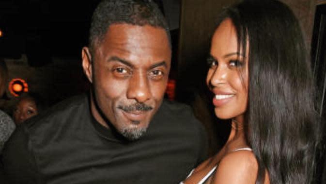 Idris Elba dan Sabrina Dhowre (Instagram/ djgotback)