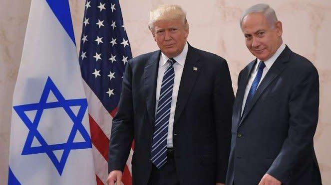 VIVA Militer: Perdana Meteri Israel, Benjamin Netanyahu, bersama Donald Trump