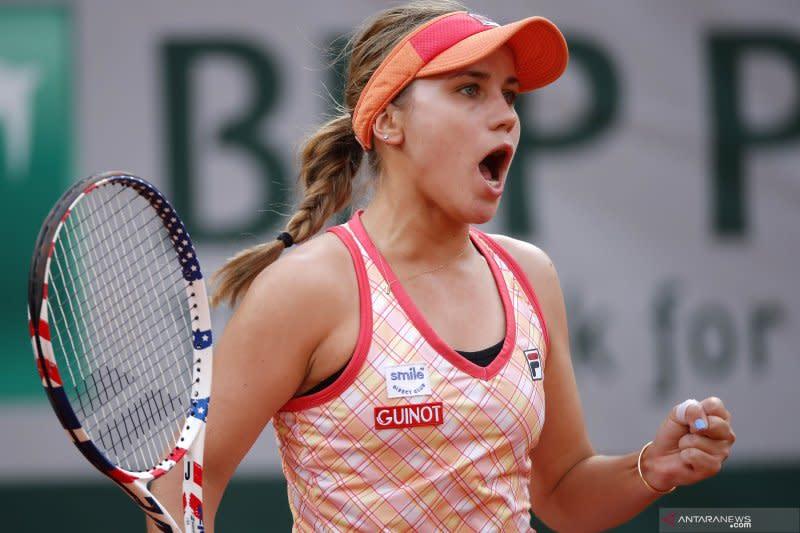 Kenin singkirkan Kvitova, tantang Swiatek di final French Open
