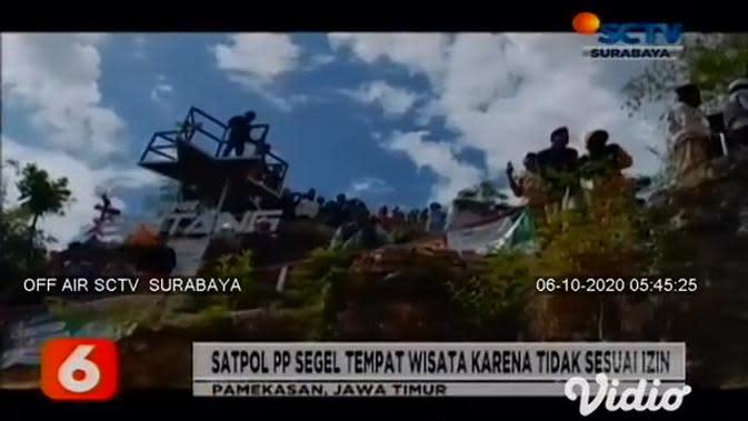 VIDEO: Tak Kantongi Izin Tempat Wisata, Warga Paksa Bukit Bintang Ditutup