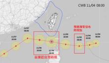 閃電颱風再增強!周五全台雨勢最劇:豪雨襲3地