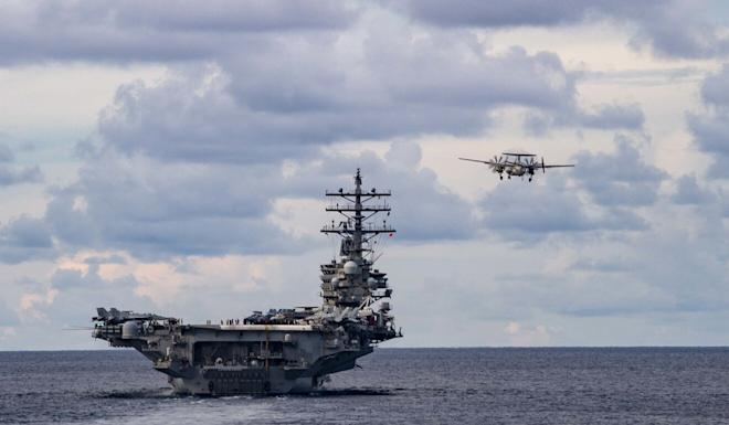 The USS Ronald Reagan took part in a joint exercise with the Japanese navy. Photo: EPA-EFE