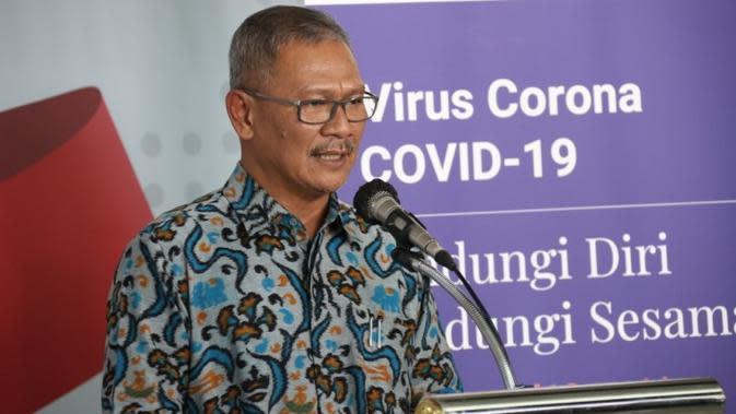 Juru Bicara Pemerintah Untuk Penanganan Virus Corona atau COVID-19, Achmad Yurianto saat konferensi pers Gugus Tugas Percepatan Penanganan COVID-19 di Graha Badan Nasional Penanggulangan Bencana (BNPB), Jakarta, Selasa (24/3/2020). (Dok Badan Nasional Penanggulangan Bencana/BNPB)