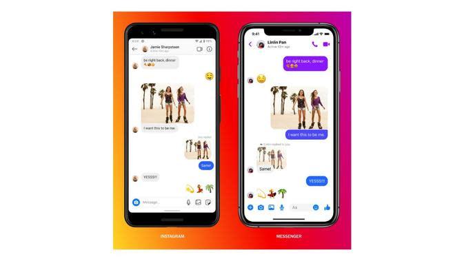 11 Fitur Baru Pascaintegrasi Messenger dan Instagram