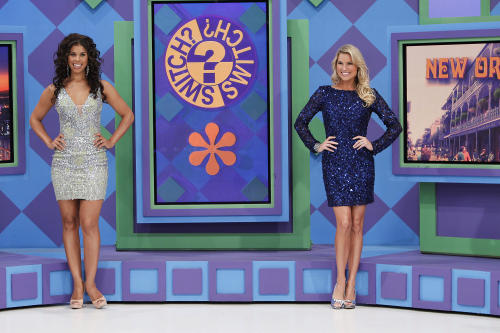 "This 2011 photo released by CBS shows models Gwendolyn Osborne, left, and Rachel Reynolds during an episode of the game show""The Price is Right,"" in Los Angeles. CBS said Wednesday, Aug. 15, 2012, that the game show known for its female models will add a male one for a week. ""The Price is Right"" will hold its ""first-ever search"" for the right man, the network said. A five-episode online competition is planned for late September, with the winner to be chosen by viewers. He will get a one-week modeling stint on the show hosted by comedian Drew Carey. (AP Photo/CBS, Cliff Lipson)"