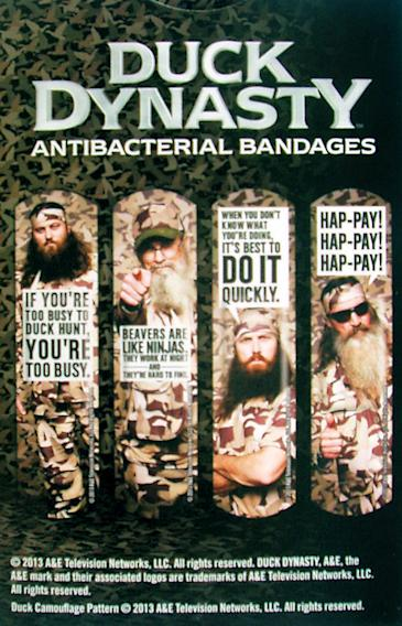 """Duck Dynasty"" Merchandise: Antibacterial Bandages"