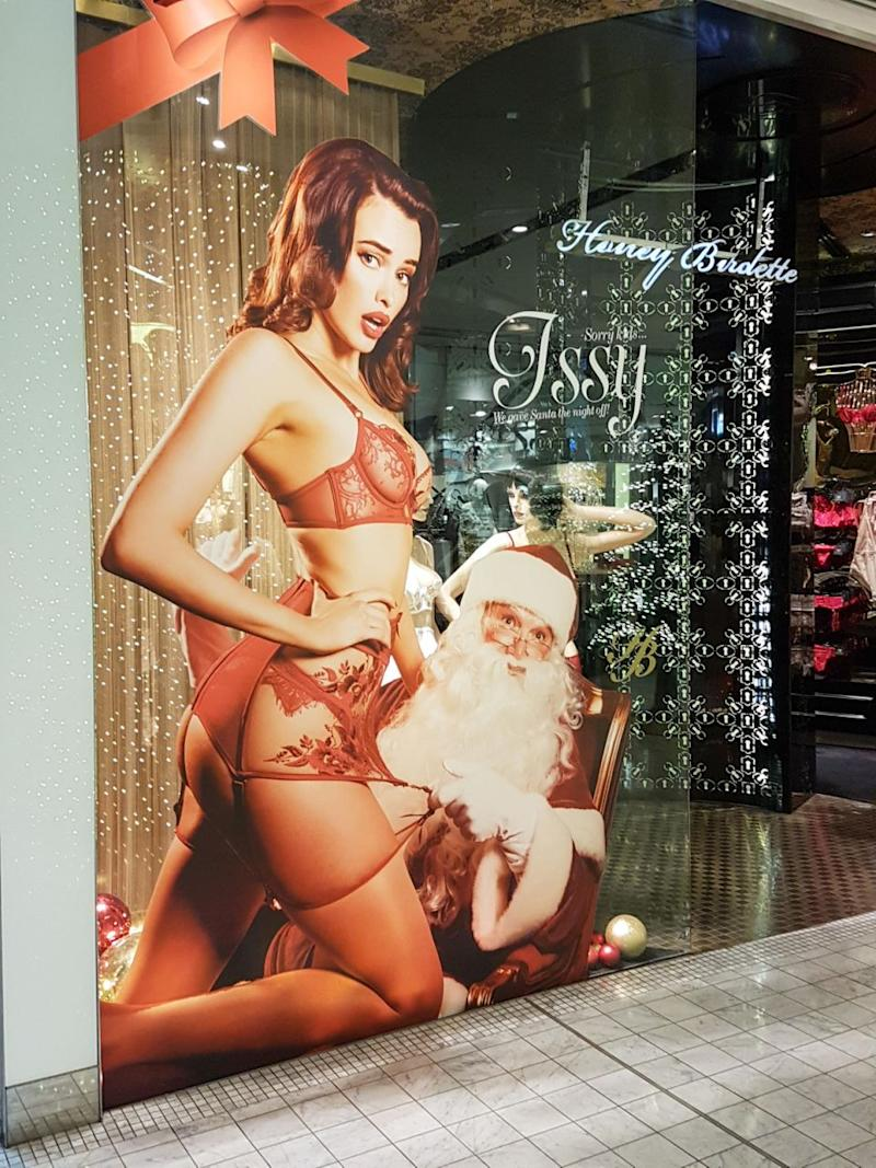 The lingerie company have come under fire for their raunchy festive season ads. Photo: Caters News