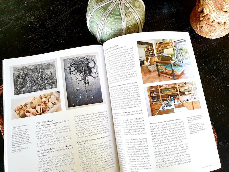 The book has pictures of their work spaces as well. — Picture courtesy of Shalini Ganendra