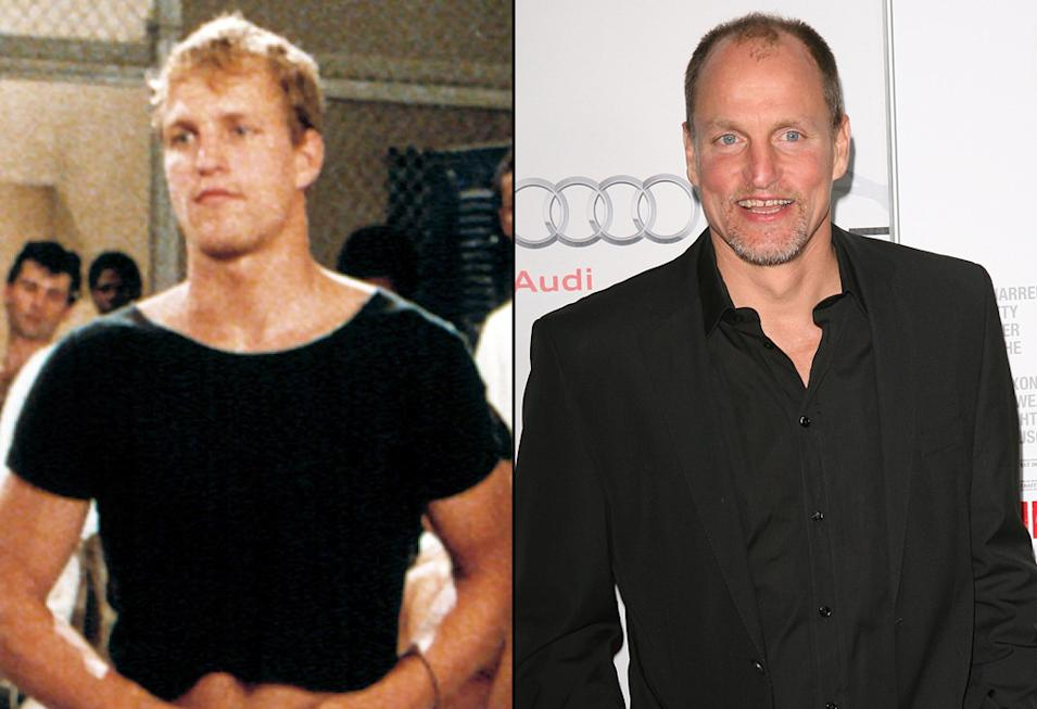 then and now the hunger games cast Woody Harrelson