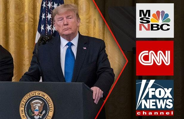 Trump Derides CNN, MSNBC Ratings Despite Record Growth: 'Fake News Does Not Pay'