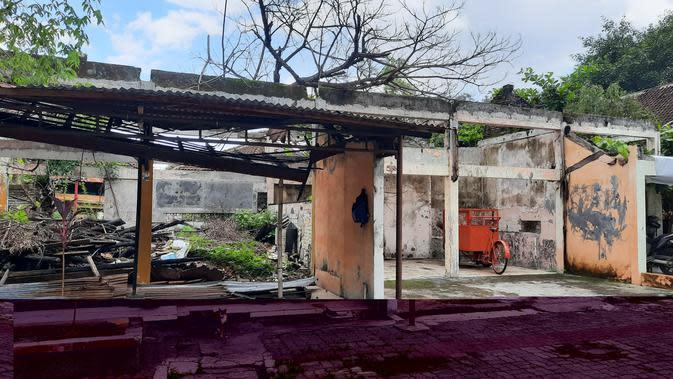 Bekas bangunan cafe di Sriwedari yang telah mangkrak, Kamis (9/1).(Liputan6.com/Fajar Abrori)