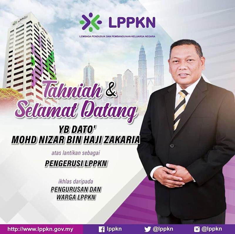 Newly appointed chairman of LPPKN, Datuk Mohd Nizar Zakaria (pic), has the important responsibility of formulating national policies on population and family development, especially in reproductive health and rights. — Picture courtesy of Facebook/LPPKN