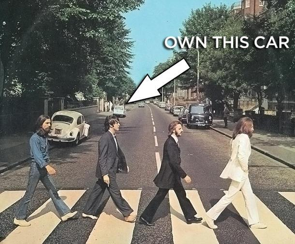 "How you can own a car from the Beatles' ""Abbey Road"" album cover"