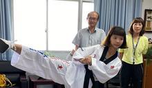 擺脫柔弱紙片人 少女練跆拳成國手