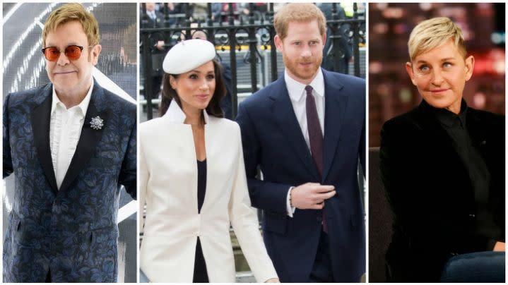 Sir Elton John and Ellen DeGeneres defend Prince Harry and Meghan