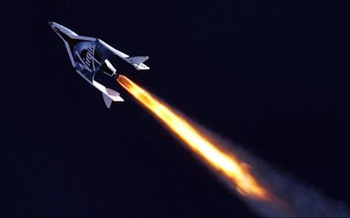 Virgin Galactic's Branson gets closer to space