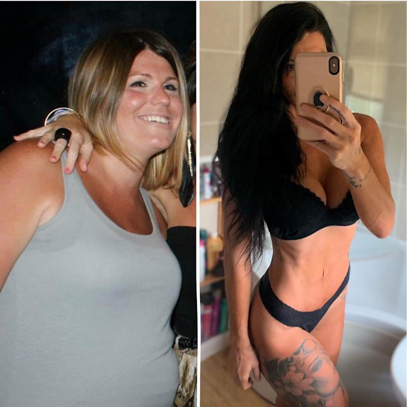 Bonnie Stainer pictured before and after her transformation. [Photo: SWNS]