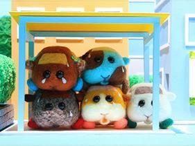 五隻各不相同的可愛天竺鼠(1)