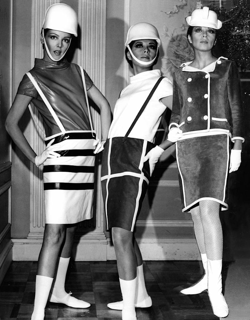 women wearing space age fashion designed by Andre Courreges