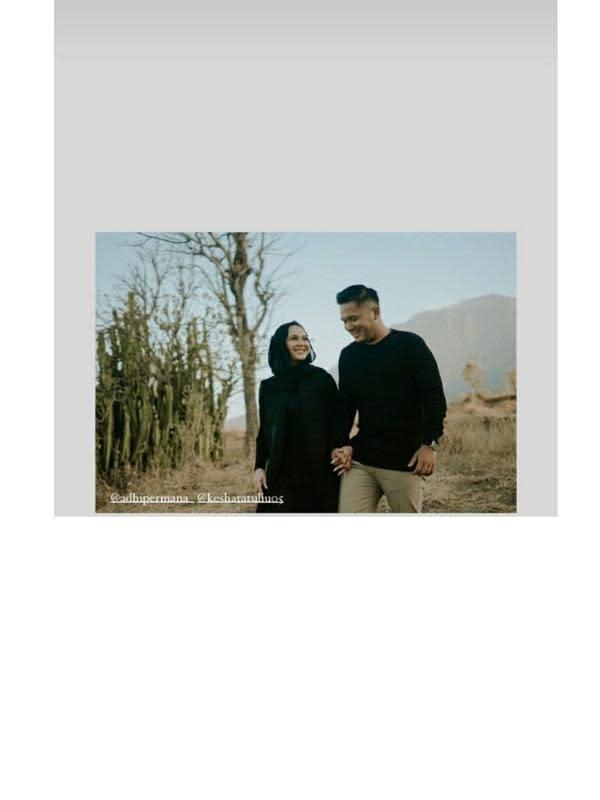 Prewedding Kesha Ratuliu dan Adhi Permana (Sumber: Instagram/nielshepherd)