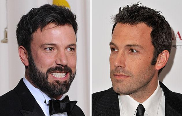 Ben Affleck shaves his lucky beard at Oscars after party