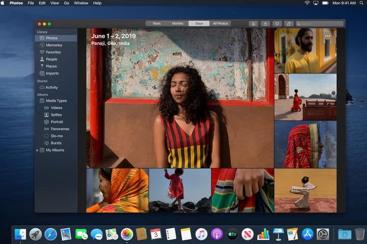 Photo of MacOS Catalina Photos screen