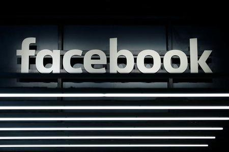 A Facebook logo is pictured at the Frankfurt Motor Show (IAA) in Frankfurt