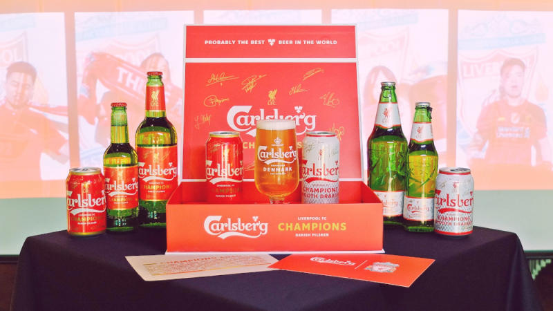 Carlsberg Malaysia customers can stand a chance to win the limited-edition Liverpool FC Champions Set and jersey with purchases of Probably the Best Beer in the World. — Picture courtesy of Carlsberg Malaysia
