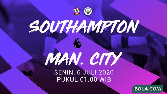 Premier League - Southampton Vs Manchester City (Bola.com/Adreanus Titus)