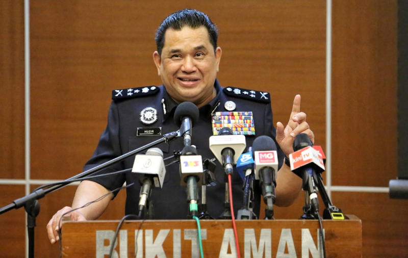 Bukit Aman Criminal Investigations Department director Datuk Huzir Mohamed speaks during a press conference June 30, 2020. — Picture by Choo Choy May