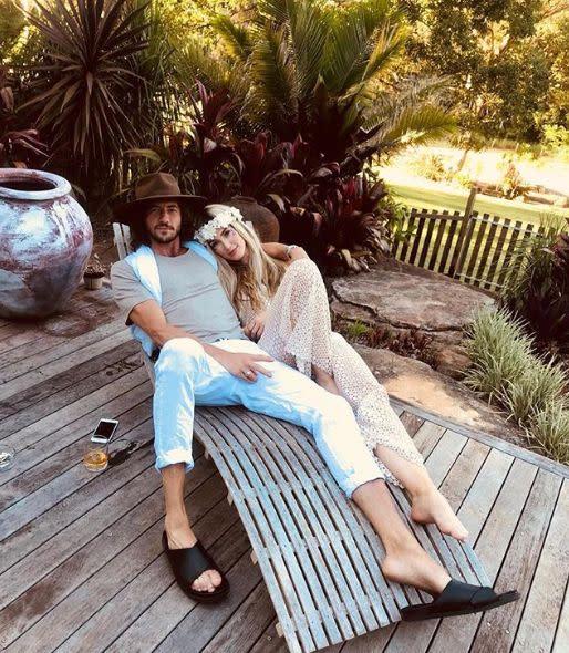 The Voice Australia coach Delta Goodrem with boyfriend Matthew Copley