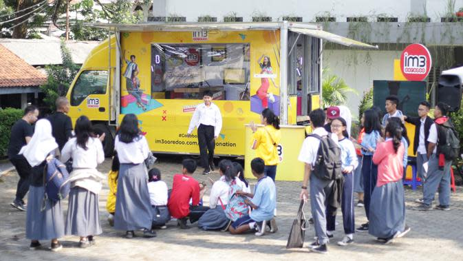Acara #IM3OoredooXschool di Bandung. Kredit: Indosat Ooredoo